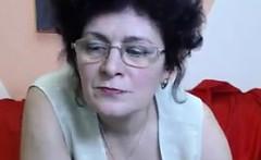 Naughty Mature Woman Teasing Her Body