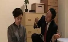 Japanese grandma love to be bound