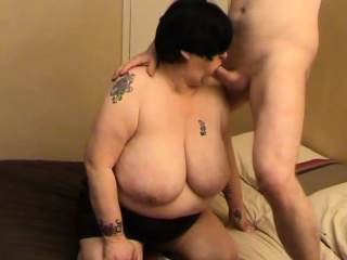 Amateur granny with really huge boobs