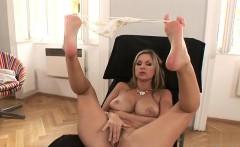 Busty pussy cum filled ass
