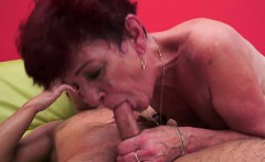 Horny housewife anal play