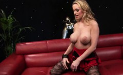 Blonde cock addict with big boobs, Paige Ashley, get her sha