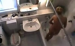 cutie caught on spy camera in the bathroom