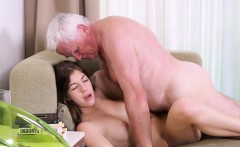 Young playgirl gets brave to suck old cock of a guy