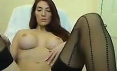 Busty British Beauty Masturbates