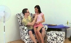 Enjoyable young sweetie is fascinated to ride old hard cock