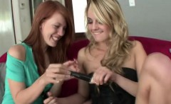 Lonely Blonde Shows Redhead Vibrator