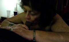 Granny taking good care of a big black cock