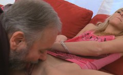 horny young angel likes hardcore insertion of old hard dong