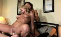 Blondes encounters hardcore threesome