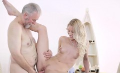 Delicious youthful babe gets impaled on cock of an old dude