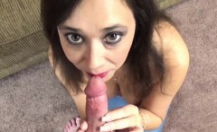 Alesia Pleasure on her knees and sucking dick