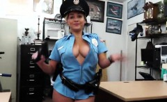 Busty Police woman loves huge fat cock