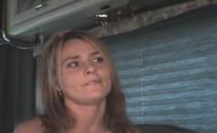 Dirty Blonde Crack Whore Sucks Dick And Takes Facial