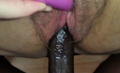 Fat MILF fucked and jizzed by a black dude