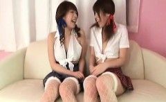 Arisa gets sex toys in ass from babe