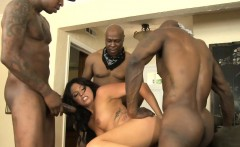 Nasty babe Danica Dillon all holes banged by black men