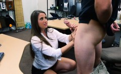 Pretty amateur brunette babe pounded by nasty pawn keeper