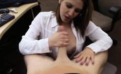 MILF pawns her wrist watch and pounded at the pawnshop