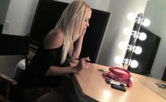 teen pornstar cameron canada in bathroom for gloryhole suck
