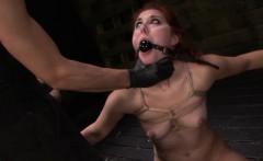 Bound slave gets gagged