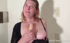 Mature blondie showing boobs