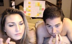 Pretty young blonde gets nailed by her horny boyfriend on t