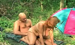 Russian mature in the woods