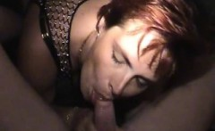 Gorgeous redhead milf knows how to please a shaft with her