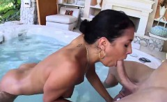 Smoking hot brazilian babe gets slammed by the pool