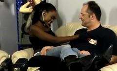 young african babe gets schooled by her hunky white