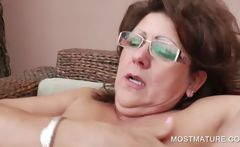 Three mature lesbos rubbing pussies
