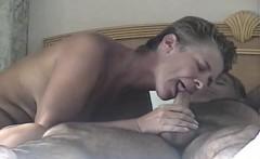 Wife sucks on dick