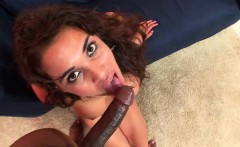 Stacked Latina with a heavenly ass gets banged by a black stud in POV