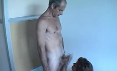 Husband and wife audition on-camera matures