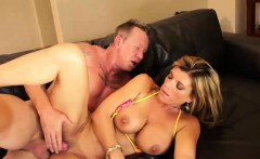 Raunchy MILF with big naturals gets nailed