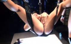 Two insatiable girls use a sex swing to have fun with a stud