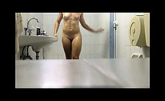 my muscular milf mom spied in bathroom