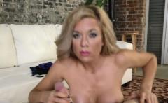 busty pornstar gives handjob and fucks in pov