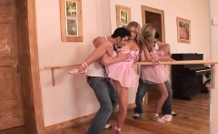 Saucy ballerina gets her wet snatch pummeled