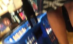 hidden camera upskirt video of a woman walking in the books