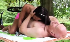 Hd small compilation full length Vivien meets Hugo in the pa