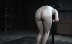 Redhead sub slave pussy and nipple punished