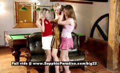 Aneta and Zoe and Mya from sapphic erotica lesbian teen