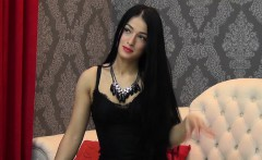 Long-haired sex goddess wants you to watch her pose seducti