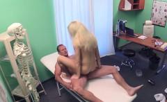 Petite Euro tattooed blonde bangs doctor