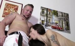 He Seduce German Step-Sister to Lost Virgin with Fuck