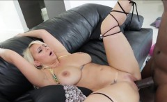 Nina Kayy in her first interracial sex