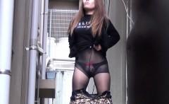Japanese slut pee alley