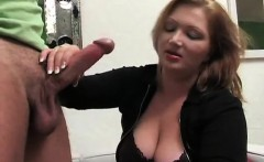hot blonde milf with large breasts providing her guy a plea